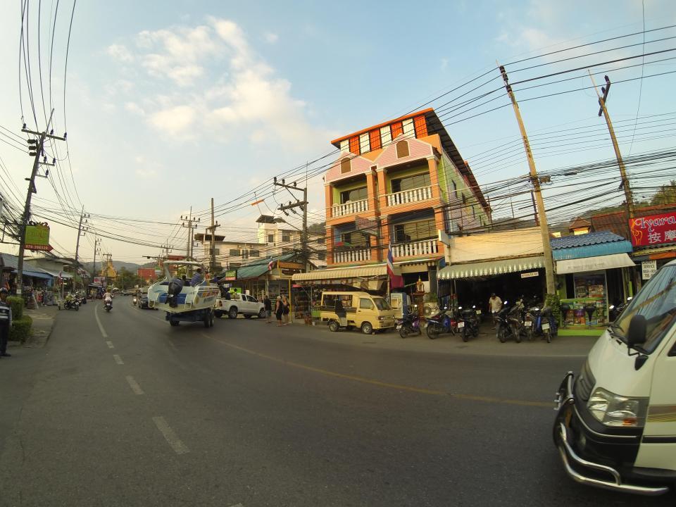 Beach town at Karon in Phuket
