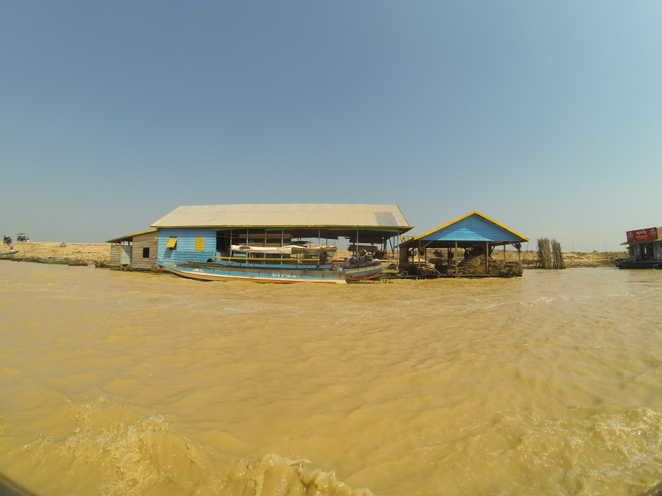 Chong Neas floating village on Tonle Sap Lake