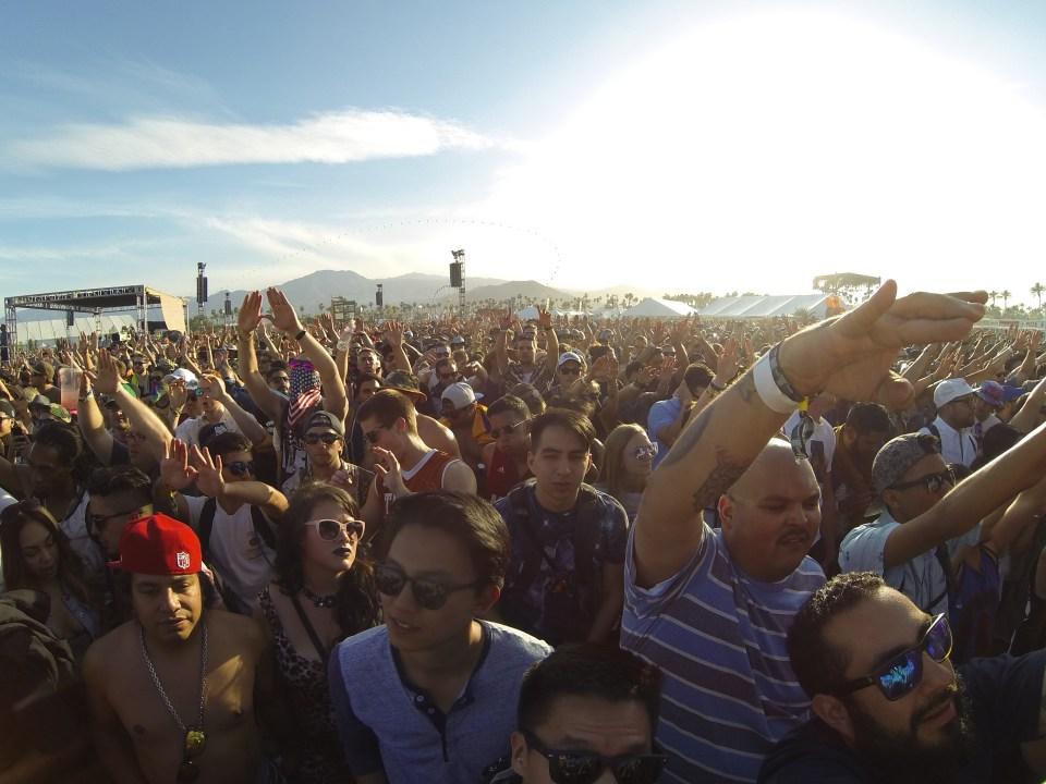 The crowd at Coachella 2015