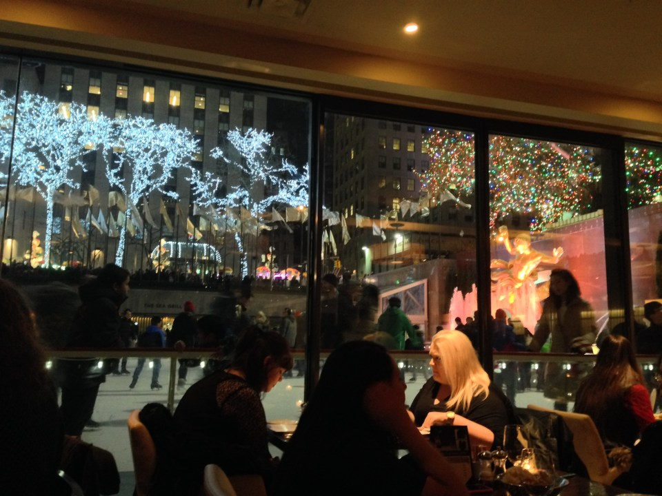 Christmas dinner at the Rock Center Cafe