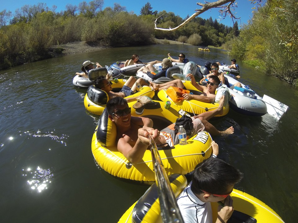 Tube island on Russian River