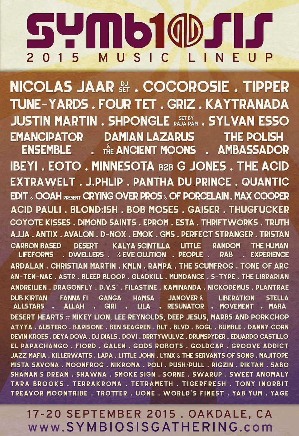 symbiosis 2015 lineup