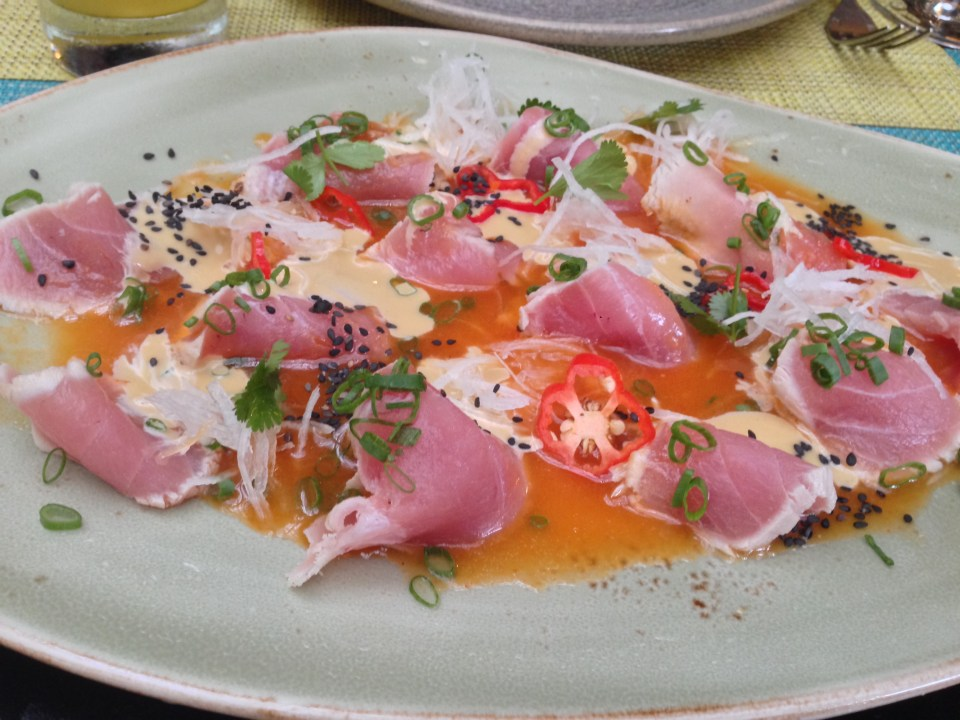Tuna ceviche at La Mar in Miraflores