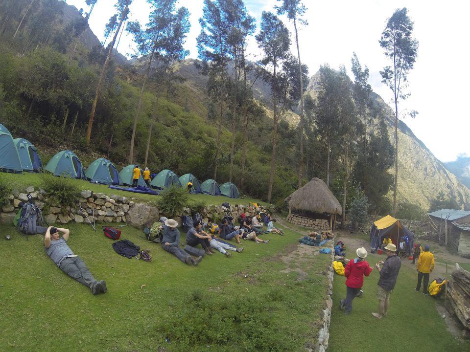 The campsite at Wayllabamba