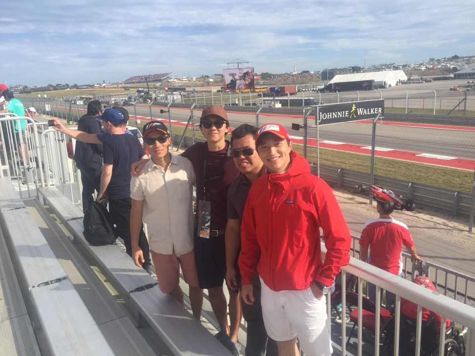 The Piedmont crew at the US Grand Prix!