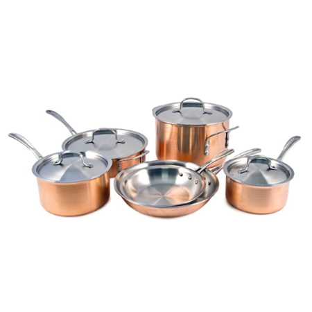 copper kitchen pan set