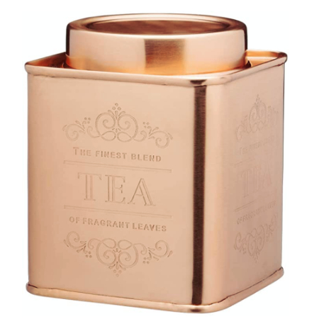 copper kitchen tea canister