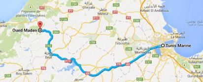 Circuit randonnée Djebel Tabbouba - Route-Tunis-Nefza