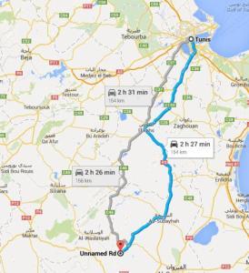 Route_Tunis-Oueslatia