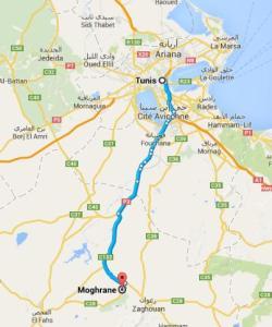 Circuit randonnée Sidi Medien à Zaghouan - route_tunis_sidi-medien