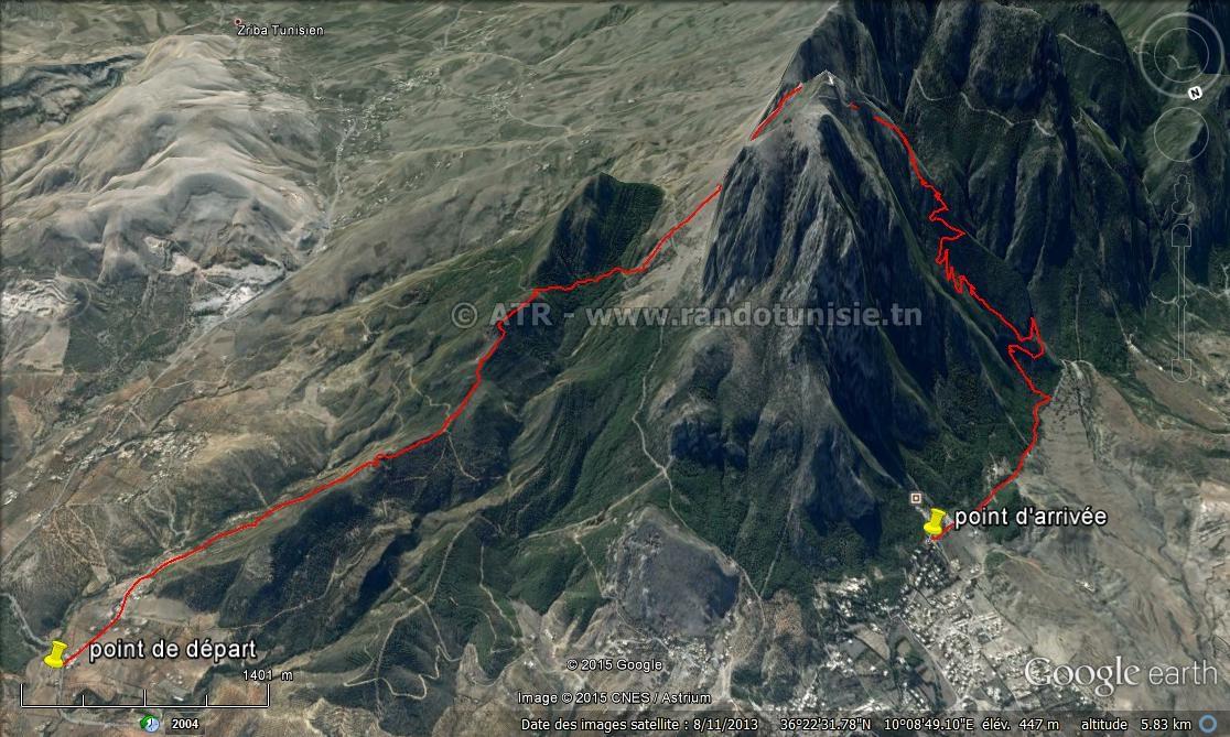 Circuit randonnée Ain Mzigh Zaghouan