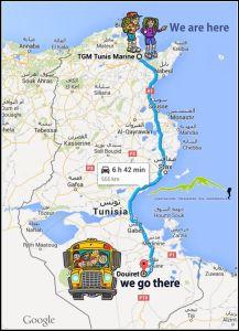 route_tunis_douiret