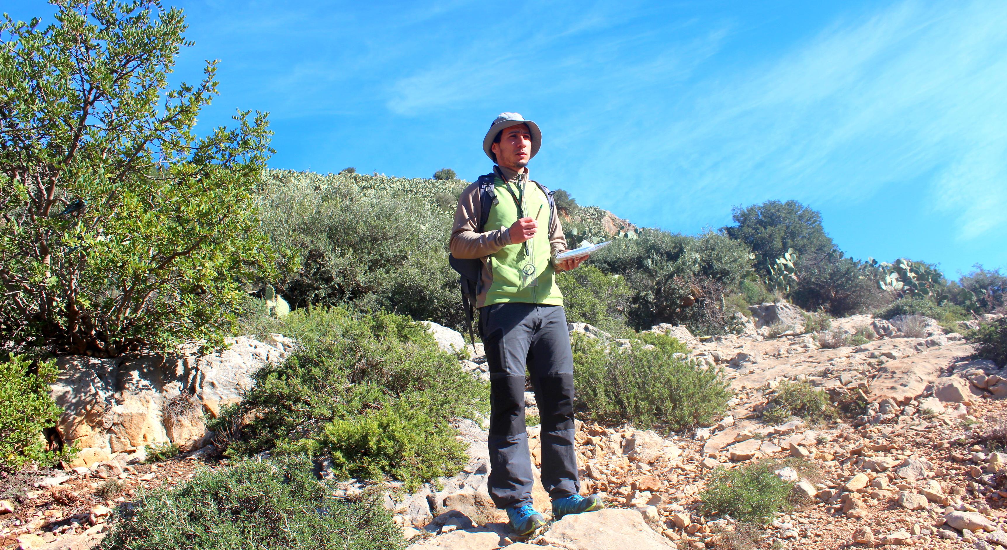 Iskander Chetioui animateur de montagne certifié de l'ATR