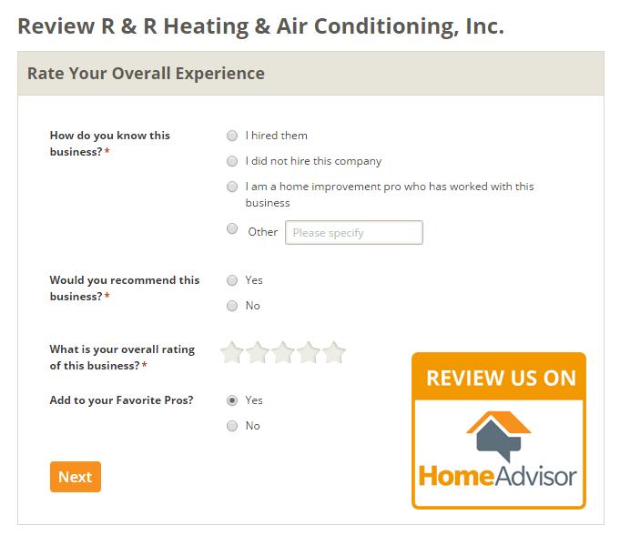 Write A Review On Home Advisor