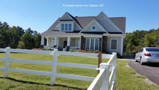 Finished home in Iron Station NC