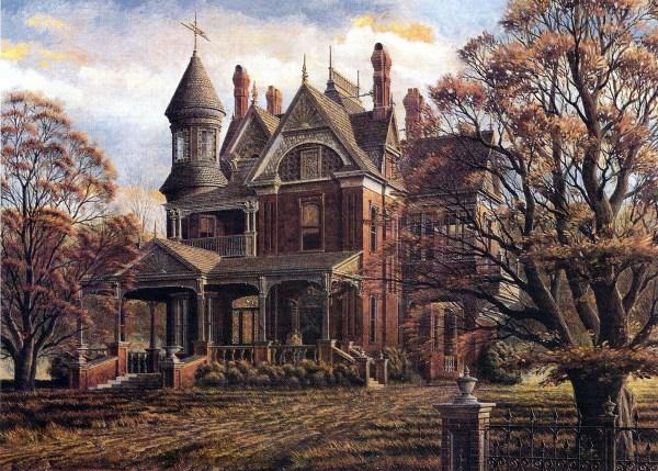 Autumn Victorian House Paintings