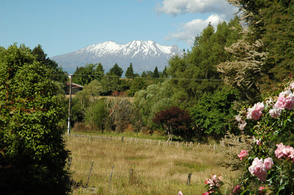 Mt Ruapehu from Ranfurly Cottage