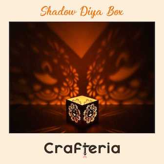 Crafteria Shadow Diya Box for Diwali