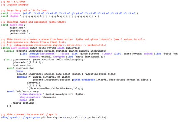 Opusmodus code