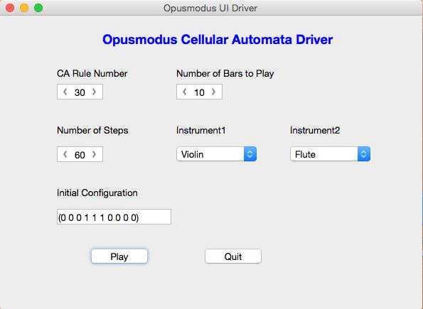 Opusmodus GUI Driver
