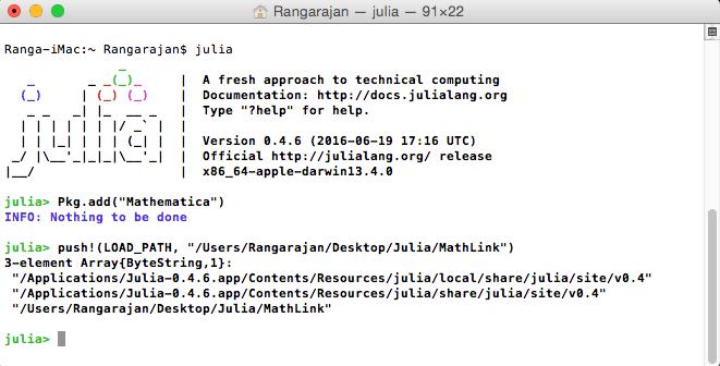 Using Julia to Interact with Mathematica : Rangarajan