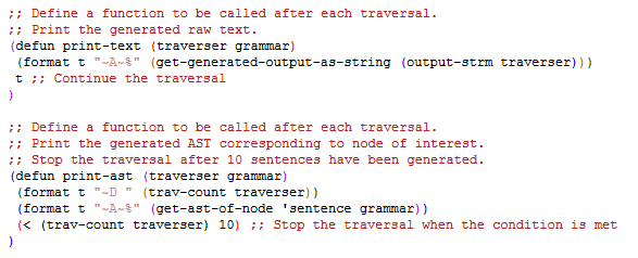 Custom Traversal Functions