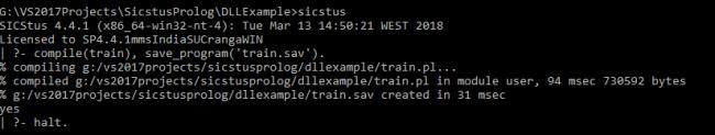 Creating Prolog Program Image