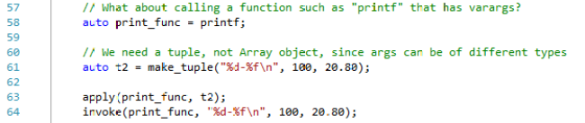 Calling a Varargs Functions