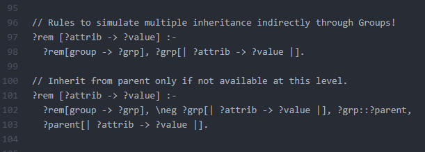 Group Inheritance Rules