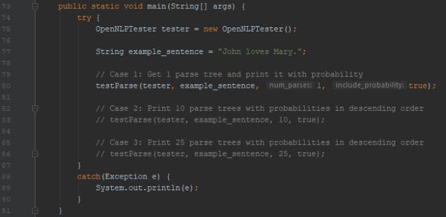 Single Parse Tree