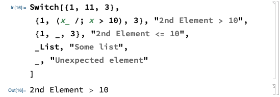Mathematica Switch Statement