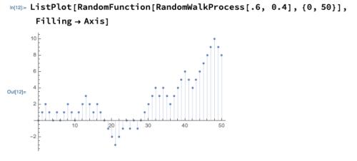 Random Walk Example in Mathematica