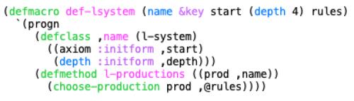 Simplifying L-system Definition