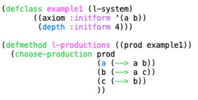 Defining an L-system in Opusmodus