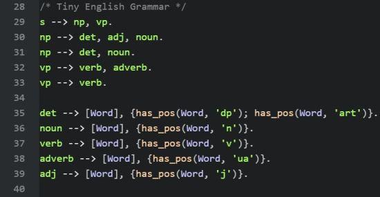 A Toy English Grammar