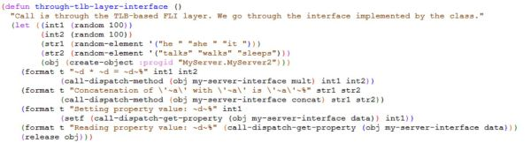 Calling Automation Methods Through Interface