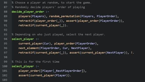 Selecting Players in Order