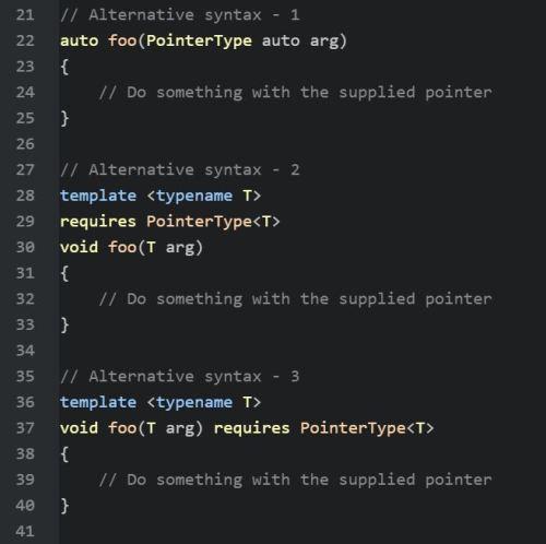 Alternative Syntax