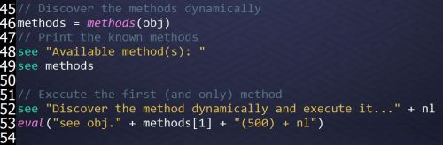 Discovering Methods at Runtime