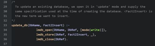 Code to Update the Database