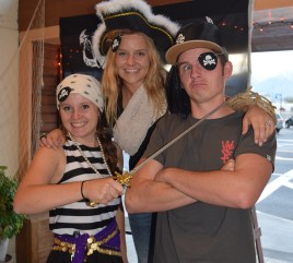 The Three Buccaneers! Katie, Katrina and Joe. Thanks for the help!