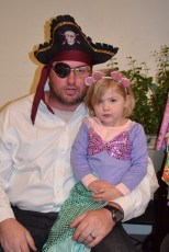 Sarah and her dad James made a great Pirate/mermaid team!