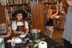 Jelly fish craft, and a cute, big eyed pirate girl!