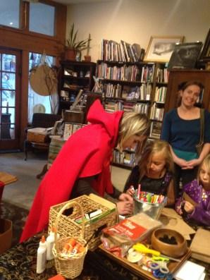 Maddi helps some cuties create the Big Bad Wolf.