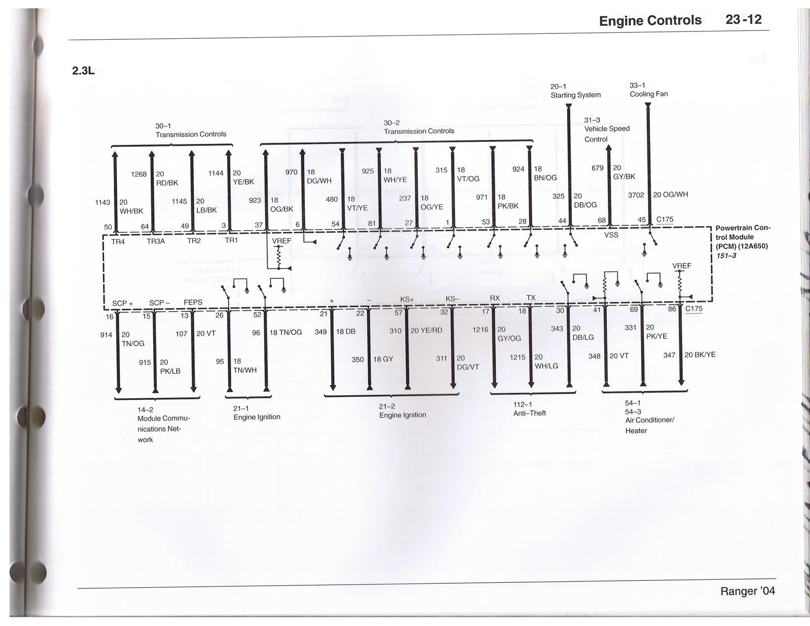 wiring diagram mazda 3 2004