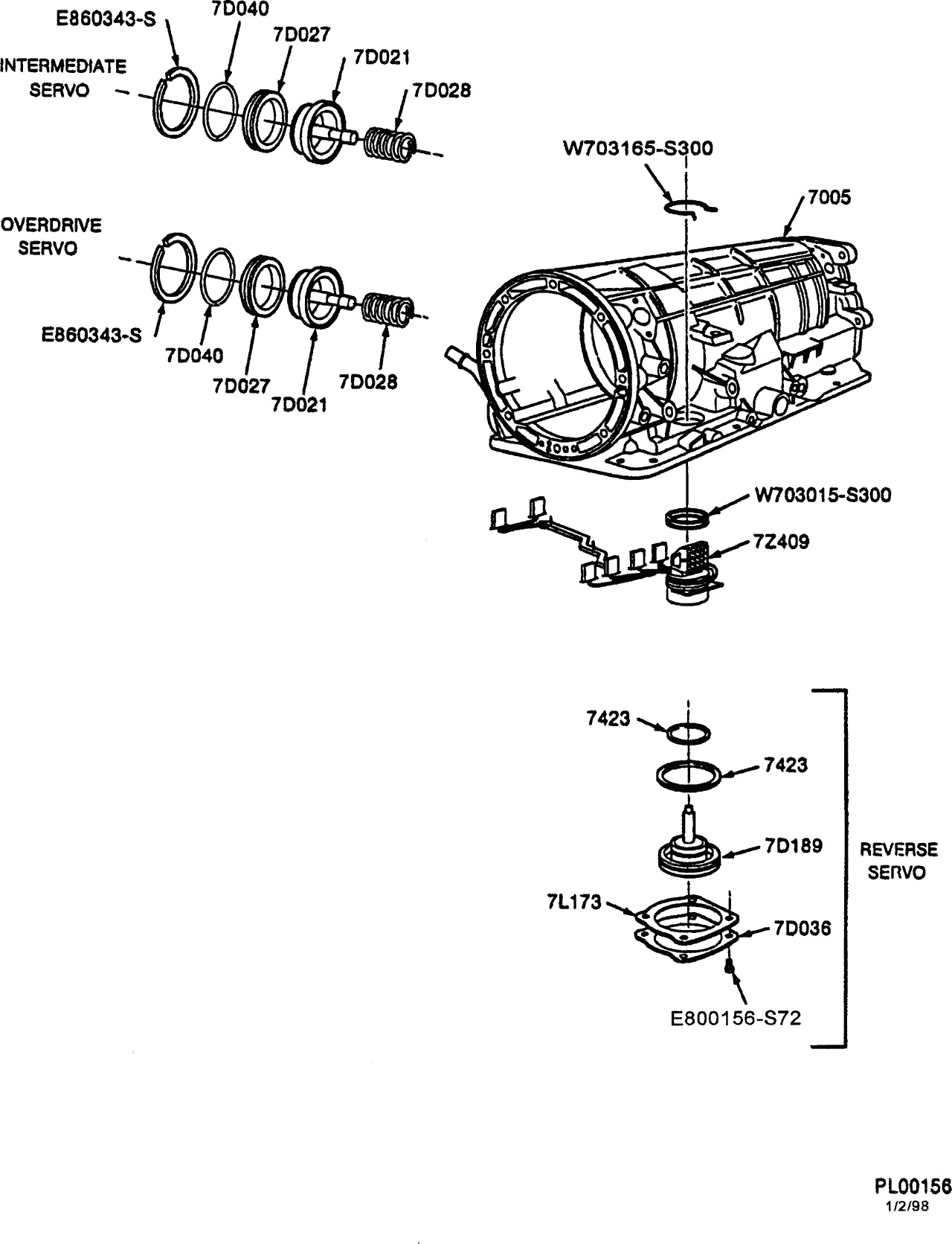 Trans leak / Exploded view of 4R44E automatic trans
