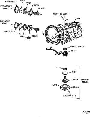 Trans leak  Exploded view of 4R44E automatic trans