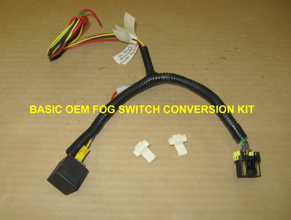 hight resolution of oem fog light switch conversion kit for aux lights ky rangername basicfogkit jpg views