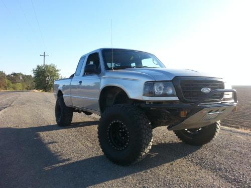 small resolution of 98 ranger bolt on tube bumper with skid norcal