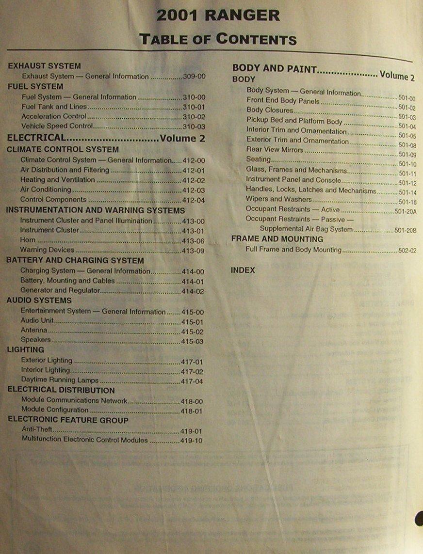 hight resolution of  2001 ford ranger factory service amp wiring diagram manuals ranger 01 vol1 2 2 jpg